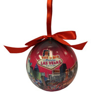 Las Vegas Ball Ornament-Nights/Pink