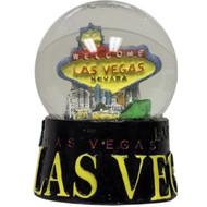 Las Vegas Black Base Snowglobe