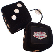 Las Vegas Fuzzy/Fluffy Dice- Black