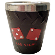 Black Las Vegas Shotglass-Stainless Steel
