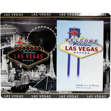 Glass Las Vegas Picture Frame Gray Skyline Design Las Vegas