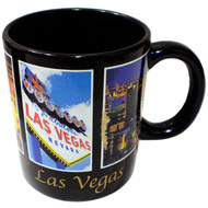 Las Vegas Black Souvenir 5 Window Mug-11oz