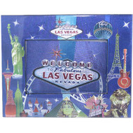 Metallic Blue Las Vegas Photo Frame Souvenir