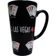 Las Vegas Tall Repeating Poker Mug- 16oz