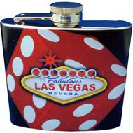 """Dice"" Las Vegas Souvenir Flask"