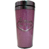 Las Vegas Travel Mug- Pink Stainless Steel-16oz