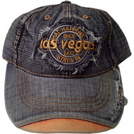 """Las Vegas"" Souvenir ""What Happens In Vegas Stays In Vegas"" Denim Baseball Cap-KIDS SIZE"
