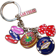 LV Poker Chips Dangle Keychain