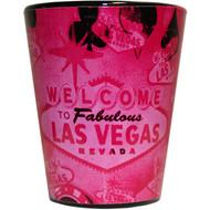 Vintage Vegas Dark Pink Shotglass