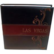 Brown Embossed Las Vegas Photo Album-200 Photos