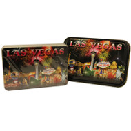 Playing Cards Las Vegas Souvenir Fireworks Design in a TIN