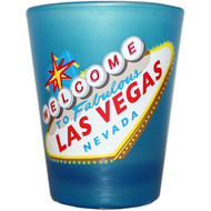 Las Vegas HIGHLIGHTER Shotglass BLUE