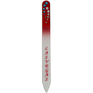 Souvenir Las Vegas Nail File- GLASS RED