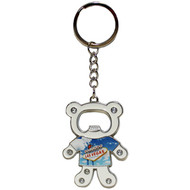 Las Vegas Bear Bottle Opener Keychain