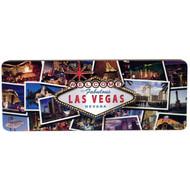 3D Wood Magnet- Las Vegas Postcard Design