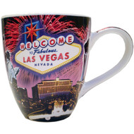 Fireworks Collage Las Vegas Java Mug-18oz.