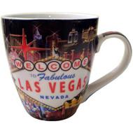 Las Vegas Hotel Composite Fluted Mug-18oz
