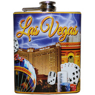 Las Vegas Flask Souvenir Purple Sky Design