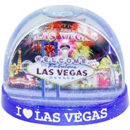 "Souvenir Las Vegas Snowglobe- LARGE ""Fireworks"" design"