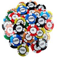 Bulk Chocolate Poker chips- 20lbs