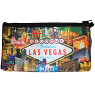 Las Vegas Pencil Case/Cosmetic Purse- Hotel Collage Design