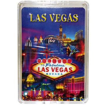 Las Vegas Metallic Collage Playing Cards