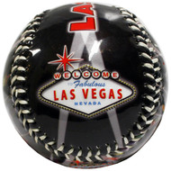 Las Vegas Red Skyline Embossed Baseball