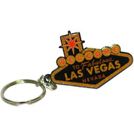 """Black and Gold """"Welcome to Las Vegas Sign"""" Key Chain"""