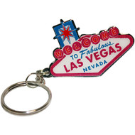 "Pink and White ""Welcome to Las Vegas Sign"" Key Chain"
