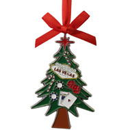 Las Vegas Tree Metal Christmas Ornament