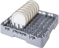 """Camrack® 9 x 9 Peg Rack, full size, 19-3/4"""" x 19-3/4"""" x 4"""", compartment inches 18"""" x 18"""", 3-1/4"""" max. height, soft gray, NSF"""