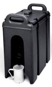 """Camtainer® Beverage Carrier, 2-1/2 gallon, 9""""W x 16-1/2""""D x 18-3/8""""H, insulated plastic, black, NSF"""