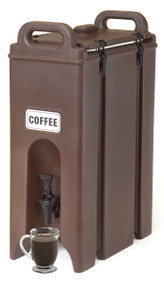 """Camtainer® Beverage Carrier, 4-3/4 gallon, 9""""W x 16-1/2""""D x 24-1/4""""H, insulated plastic, dark brown, NSF"""