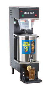 """Iced Tea Brewer with B-1/3T Dispenser, fresh brew, automatic design, 3 gallon capacity, plastic funnel, stainless steel construction, 1/4"""" water line required, 1.8 kw, 120v/60/1-ph, NEMA 5-15P, cULus, NSF (Cecilware)"""