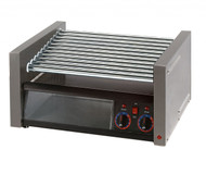 Grill-Max® Hot Dog Grill, roller-type with clear bun door, stadium seating, chrome plated rollers, capacity 30 hot dogs & 32 buns, analog controls for front and rear zones, stainless steel construction, cULus, UL EPH