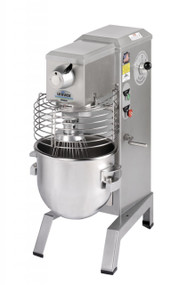 Food Mixer, countertop, 20-qt. capacity, variable speed drive, includes removable SwingRing safety guard, stainless steel bowl, batter beater, wire whip, dough hook, and bowl scraper, 1/2 HP, ETL, NSF, made in USA