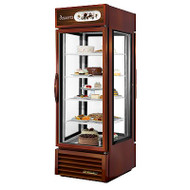 Specialty Merchandiser, Pass-thru, one-section, True standard look version 01, (4) shelves, bronze powder coat finish exterior, white aluminum interior liner with stainless steel floor, (4) Low-E thermal glass sides including (2) hinged glass doors, low UV emitting LED lighting, bottom mounted self-contained refrigeration, R290 Hydrocarbon refrigerant, 1/3 HP, 115v/60/1, 5.4 amps, NEMA 5-15P, cULus, UL EPH Classified, MADE IN USA. CALL FOR YOUR PRICE.