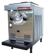 Soft Serve/Yogurt Freezer, counter model, air-cooled, self-contained refrigeration, 1 head, 7 qt. mix capacity, welded steel frame, stainless steel exterior, automatic torque control, visual mix out system, 1/2 HP dasher, 1/2 HP compressor, UL, cUL, NSF