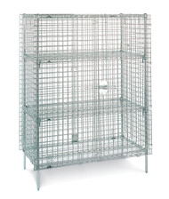 "Super Erecta® Shelf, wire, 60""W x 24""D, stainless steel finish, plastic split sleeves are included in each carton, NSF. SHOWN WITH OPTION"