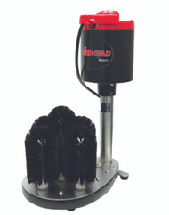 """The Redhead Glass Washer, upright, electric, (5) brush, (4) 7"""" brushes and (1) 8-3/4"""" brush, stainless steel base with rubber feet, brass bearings and nylon gears inside base, 1/3 HP, 4.3 amps, 115v/60/1-ph, 7' cord, NEMA 5-15P, CE"""