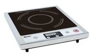 Induction Cooker, single, countertop, digital controls, slim design, ceramic glass top, adjustable 120 minute timer, adjustable temperature to 464°F, self-checking auto shutoff, safety overheating sensor, wall stopper, heavy duty stainless steel, 120v/60/1-ph, 1800 watt, 15 amps, NEMA 5-15P, cETLus, ETL-Sanitation, FCC