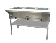 3 Well Steam Table Hot Food Serving Counter ADCRAFT ST-120/3