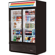 Call for price. Refrigerated Merchandiser, two-section, (8) shelves, laminated vinyl exterior, white interior with stainless steel floor, (2) Low-E thermal glass sliding doors, LED interior lights, R290 Hydrocarbon refrigerant, 1/2 HP, 115v/60/1, 8.5 amps, NEMA 5-15P, cULus, UL EPH Classified, MADE IN USA