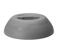 "The Shoreline Collection Dome, insulated, fits 9"" plate, outside dia. 10-1/4"", 3-3/16""H, cranberry, polypropylene"