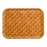 """Camtray®, rectangular, 15"""" x 20-1/4"""", high-impact fiberglass, color permanently molded into tray, dishwasher safe, light basketweave, NSF"""