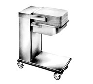 "Caddy Magic Tray Dispenser, cantilever style, unheated, single stack, for 15"" x 20"" trays (end load), cap.: up to 75 trays, self-leveling platform, 4"" swivel casters"