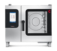 """Convotherm Combi Oven/Steamer, electric, steam generator, (6) 13"""" x 18"""" half size sheet pan or (6) 12"""" x 20"""" x 2-1/2"""" hotel pan capacity, 9"""" easyTouch control panel, 20 stages each & 399 cooking recipes storage, (4) cooking modes: hot air, steam, combi-steam & retherm, multi-point core temperature probe, five-speed auto reversing fan, anti-microbial hygienic door handle, pull-out spray hose, stainless steel construction"""