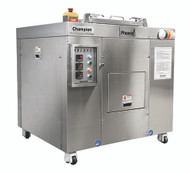 Waste System, Dehydrator, 700 lbs. capacity, 15 -19 hour cycle, programmable logic controller, motor overload sensor eliminates jams, one button start/load/un-load for easy operation, bin counter for no overloading of machine, moisture sensor for energy savings, emergency shut-off, casters for easy movement, UL Rated Control Panel, 208v/60/3-ph (PHX-100 SHOWN)