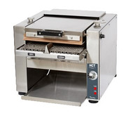 Ultra-Max® Contact Toaster, (1700) bun halves per hour, horizontal metal chain belt, analog controls, adjustable belt speed, temperature & product height, hinged platen body