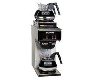 13300.0004 VP17-3 Coffee Maker,pourover type, brews 3.8 gallons per hour capacity, (1) lower & (2) upper warmer, plastic funnel, stainless decor, 120v/60/1-ph, 13.9 amp, 1670 watts, NEMA 5-15P, cord attached, UL, NSF
